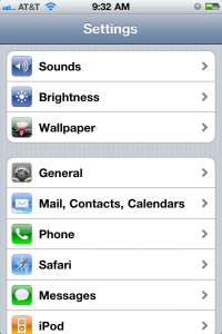 Select General from iPhone Settings
