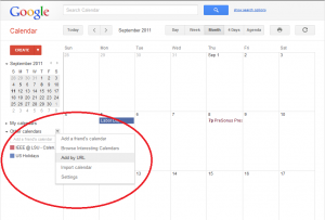 Add to Google Calendars